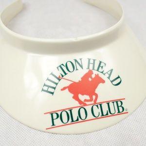 ✨VTG✨ 80s Hilton Head Polo Club Visor